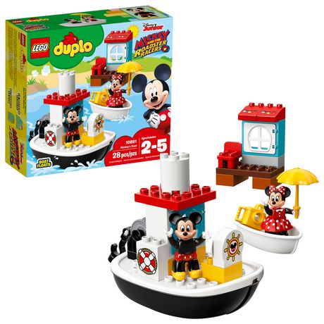 LEGO DUPLO Mickey's Boat 10881 Building Blocks (28 Piece) - image 1 of 6
