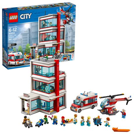 LEGO City Hospital 60204 Building Kit (861 Piece) - image 1 of 6