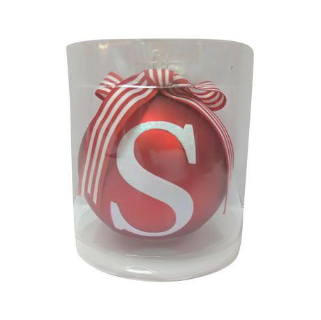 Ornement en verre Holiday Time à imprimé « R » - image 1 de 1