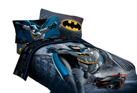 Batman bedding is just the thing to keep the little superhero comfy and warm. Many DC Comic brand Batman comforters are printed on both sides, for two different looks. Available in both twin and full sizes on eBay, comforters are constructed of polyester monofiber for softness and warmth.