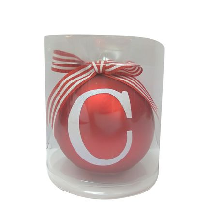 Holiday time Letter C Glass Ornament - image 1 of 1