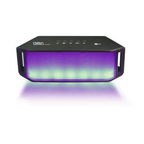 Top Tech Audio Portable Bluetooth Speaker with LED Light FM
