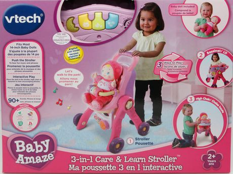 Vtech 174 Baby Amaze 3 In 1 Care Amp Learn Doll Stroller