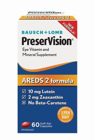 Bausch & Lomb Preservision Areds 2 Formula, 60 Capsules - image 1 of 1