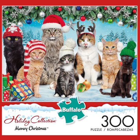 Buffalo Games Adorable Animals Meowy Christmas 300 Piece Jigsaw Puzzle - image 1 of 3