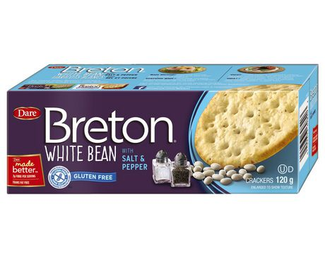 Breton Dare Gluten Free White Bean with Salt and Pepper Crackers