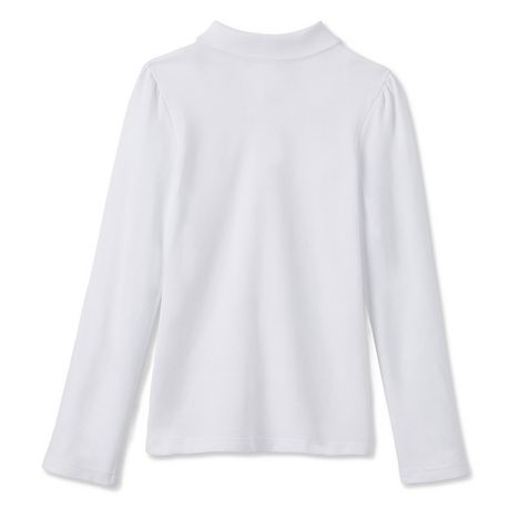 George Girls' Long-Sleeve Polo Uniform Top - image 2 of 2