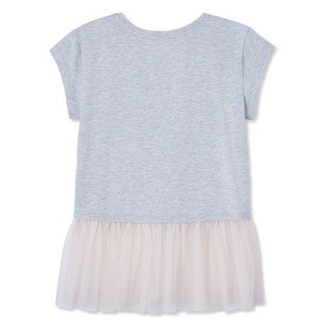 af68859bb3 George Girls  Mesh Trim T-Shirt - image 2 ...