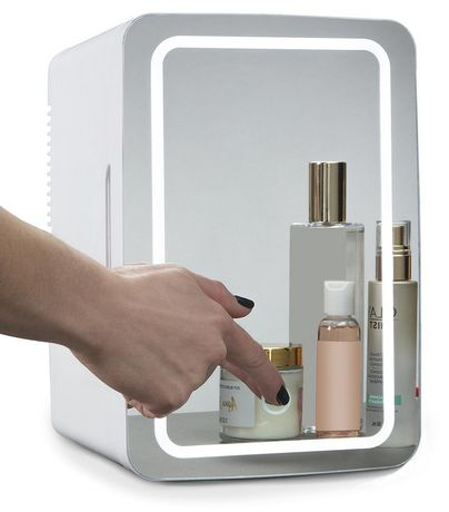 Koolatron Mirrored LED Cooler/Fridge for Cosmetics