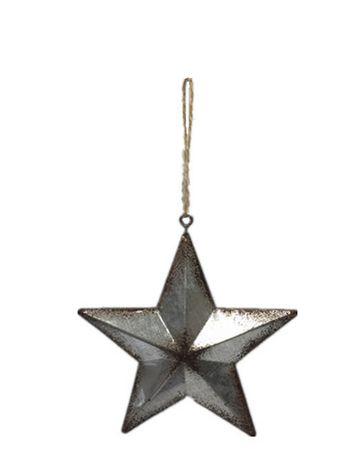 Ornement de Noël Import-Creative Design en forme d'étoile en étain - image 1 de 1