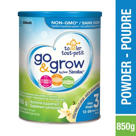 Go & Grow by Similac Step 3 Toddler Nutritional Drink, Vanilla Flavour, Powder - image 1 of 8