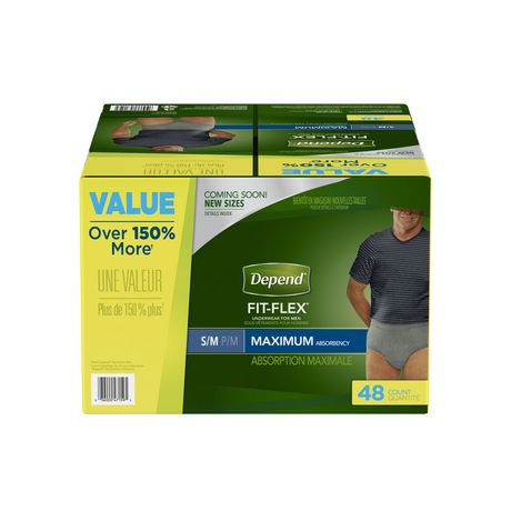 Depend FIT-FLEX Incontinence Underwear for Men, Maximum Absorbency - image 1 of 1