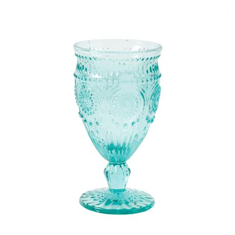 The Pioneer Woman Adeline 12 oz. Footed Teal Glass Goblet - image 2 of 2