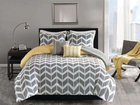 Hometrends Chevron 5 Pieces Comforter Set Double Queen