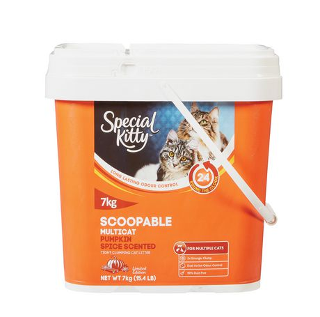 Special Kitty Scoopable Clumping Odour Control CAT Litter   Pumpkin Spice  Scented   Image 1 Of ...