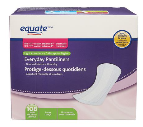 Equate Light Absorbency Everyday Pantiliner - image 1 of 4