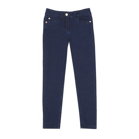 Pair of dark denim skinny jeans for girls, made by George