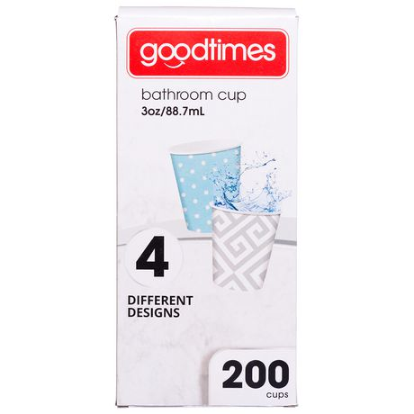 Gobelets en papier aux motifs contemporains de GoodtimesMC pour salle de bain - image 1 de 2