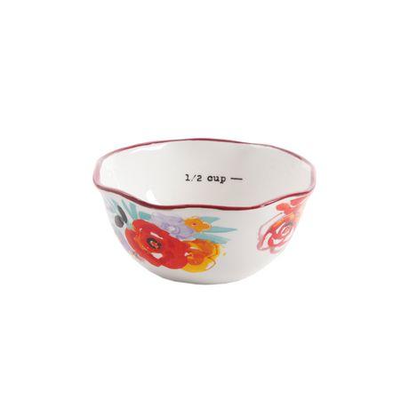 The Pioneer Woman Flea Market 4-Piece Ceramic Decorated Measuring Bowls - image 5 of 5