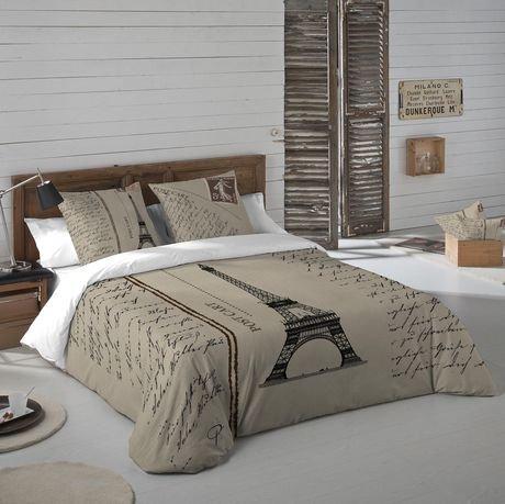 Ensemble housse de couette paris postcard de gouchee design pour grand lit walmart canada - Housse de couette grand lit ...