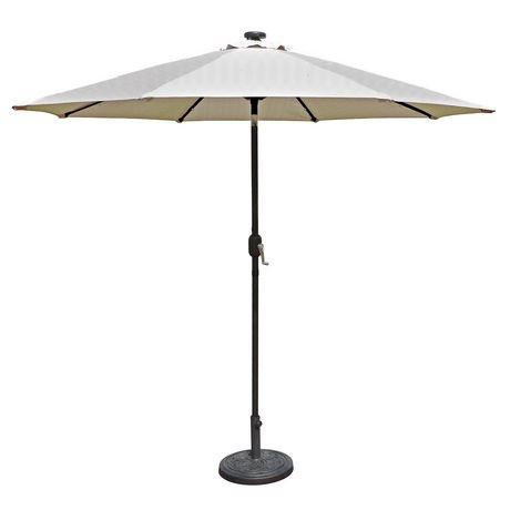 parasol auto inclinable de style march island umbrella del solaires en toile ol finique de. Black Bedroom Furniture Sets. Home Design Ideas