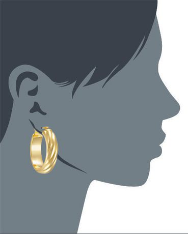 Ti Amo 18K Gold over Bronze Earrings - image 2 of 2