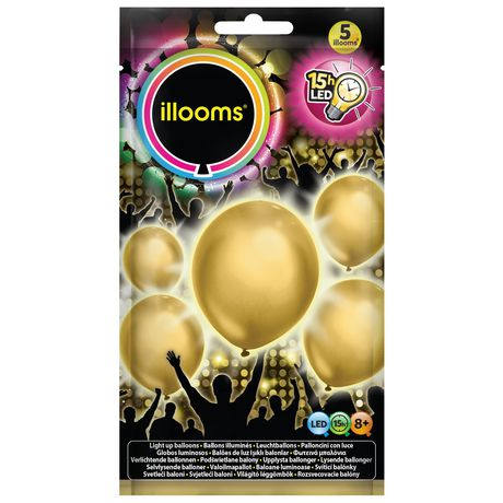 Ballons illuminés illooms à DEL en or - image 1 de 1