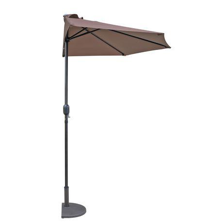 demi parasol lanai de 2 74m en polyester couleur cafe image 1 de