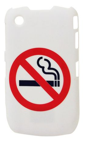 Exian Case for Blackberry Curve 8520, No Smoking - White - image 1 of 1