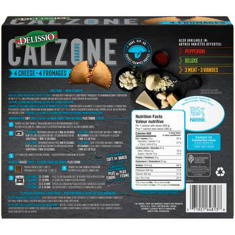 Delissio Calzone 4 Cheese Walmart Canada