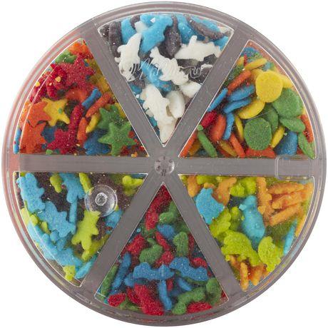 Wilton paillettes animaux et étoiles 6 cellules - image 2 de 6