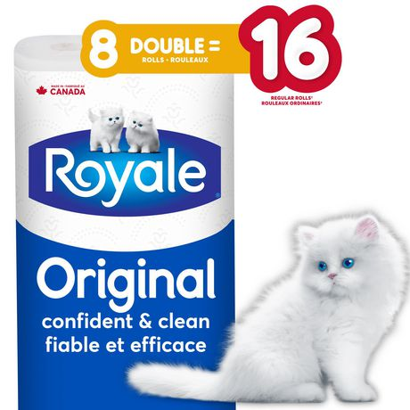 ROYALE® Original Bathroom Tissue, Double Rolls, 8=16 Rolls, 2 Ply Toilet Paper, 253 Sheets per Roll (2,024 Total) - image 1 of 6