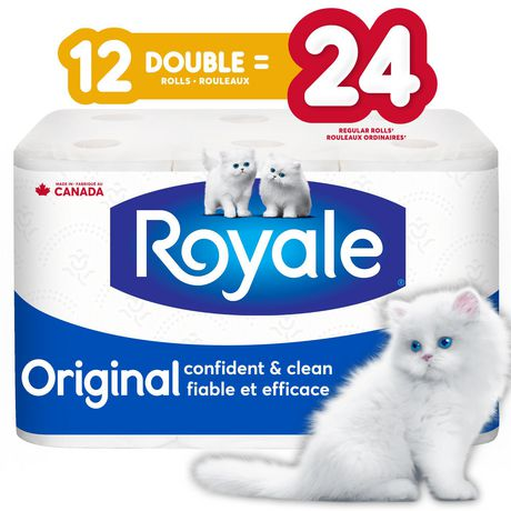 ROYALE® Original Bathroom Tissue, Double Rolls, 12=24 Rolls, 2 Ply Toilet Paper, 253 Sheets/Roll (3,036 Total) - image 1 of 6