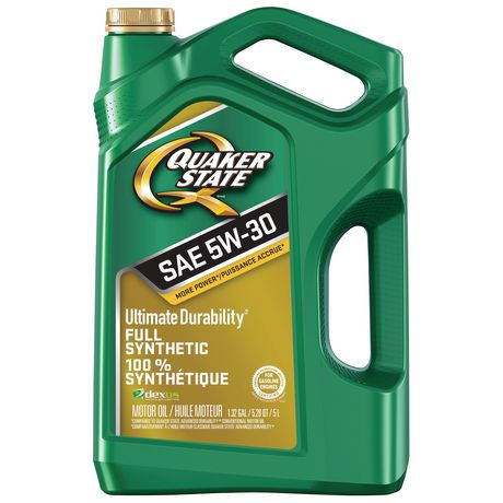 Quaker state ultimate durability sae 5w 30 motor oil for Motor oil out of clothes
