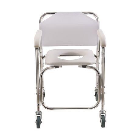 Chaise de douche roulante dmi avec si ge toilette rembour for Achat chaise roulante