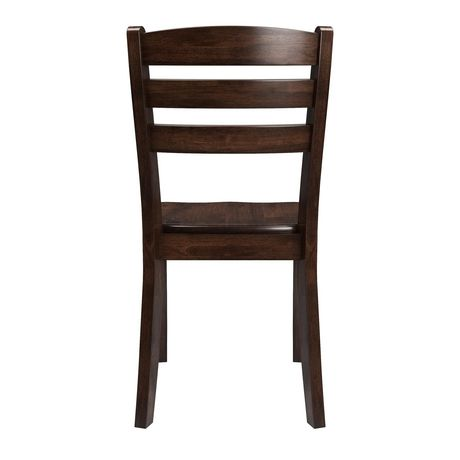 CorLiving Dillon Horizontal Slat Backrest Cappuccino Solid Wood Dining Chairs, Set of 2 - image 2 of 9