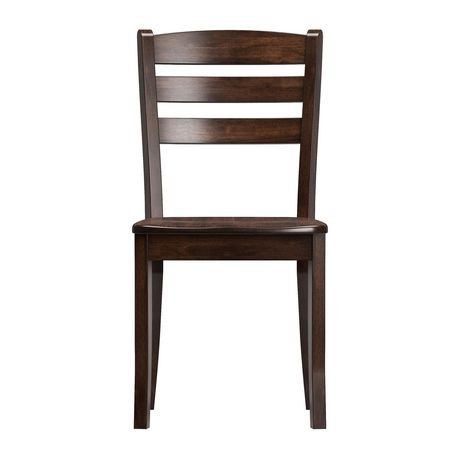 CorLiving Dillon Horizontal Slat Backrest Cappuccino Solid Wood Dining Chairs, Set of 2 - image 3 of 9