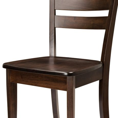 CorLiving Dillon Horizontal Slat Backrest Cappuccino Solid Wood Dining Chairs, Set of 2 - image 5 of 9