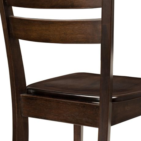 CorLiving Dillon Horizontal Slat Backrest Cappuccino Solid Wood Dining Chairs, Set of 2 - image 6 of 9