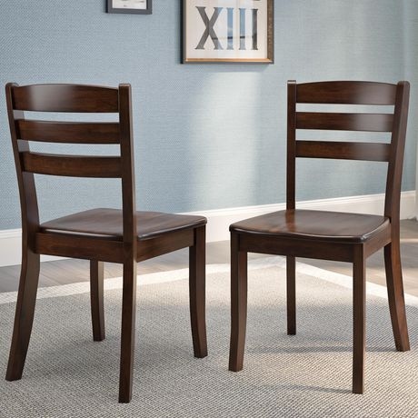 CorLiving Dillon Horizontal Slat Backrest Cappuccino Solid Wood Dining Chairs, Set of 2 - image 7 of 9
