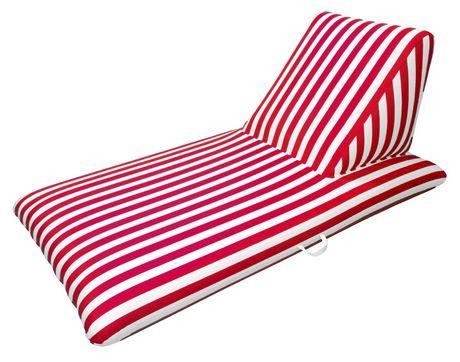 Chaise Longue De Piscine Flotteur Luxe Recouvert Tissu Rouge