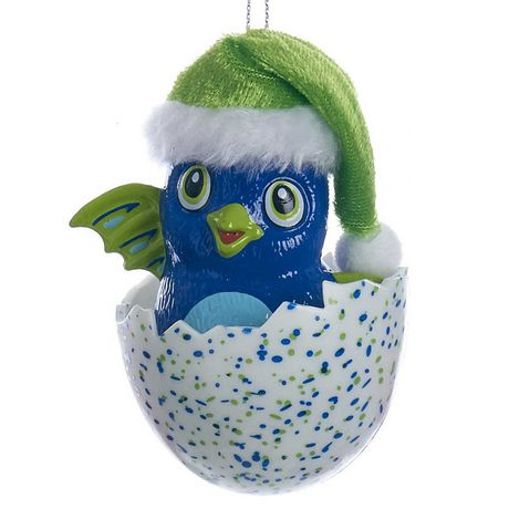 Décoration de Noël Hatchimals en forme de Draggle bleu avec chapeau - image 1 de 1