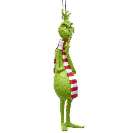 VENDOR LABELING (CAN) Dr. Seuss' The Grinch in Scarf Christmas Ornament - image 1 of 1