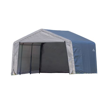 Shed-in-a-Box 12x12x8 ft. Peak Style Storage Shed- Gray - image 1 of 1