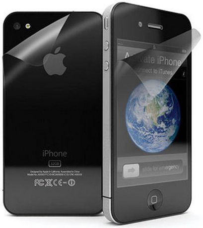 Exian Screen Protector for iPhone 4 4S - Clear (Front Back ... 947ea499d8