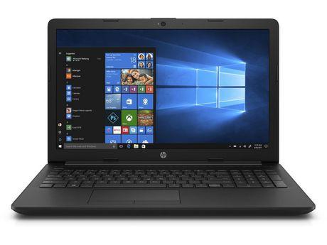 "HP 15-da0001ca 15.6"" Laptop, Jet Black, Celeron N4000, Intel UHD Graphics 600, 4 GB DDR4-2400 SDRAM (1 X 4 Gb), 500 GB 5400 RPM Sata, Windows 10 Home,  4BQ80UA#ABL - image 1 of 1"