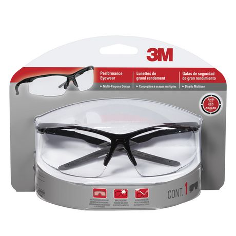 7c931802d8bd 3M Performance Safety Eyewear with clear lens - image 1 of 1 ...