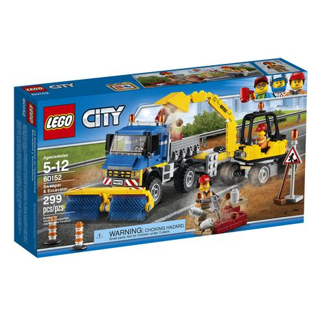 Lego City Great Vehicles Sweeper Excavator 60152 Walmart Canada