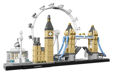 LEGO Architecture set featuring the National Gallery, Nelson's Column, London Eye, Big Ben (the Elizabeth Tower) and Tower Bridge