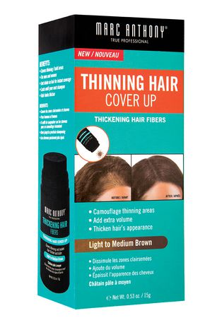 Marc Anthony True Professional Thinning Hair Cover Up Thickening Hair Fibers - Light To Medium Brown - image 1 of 1